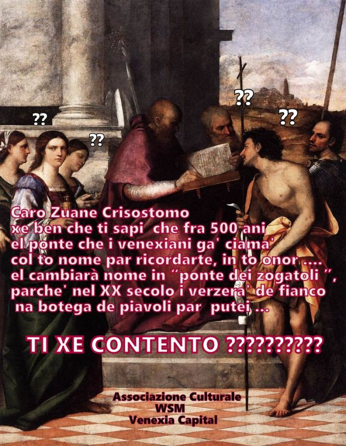 Ponte San Giovanni Crisostomo o dei zogatoli?