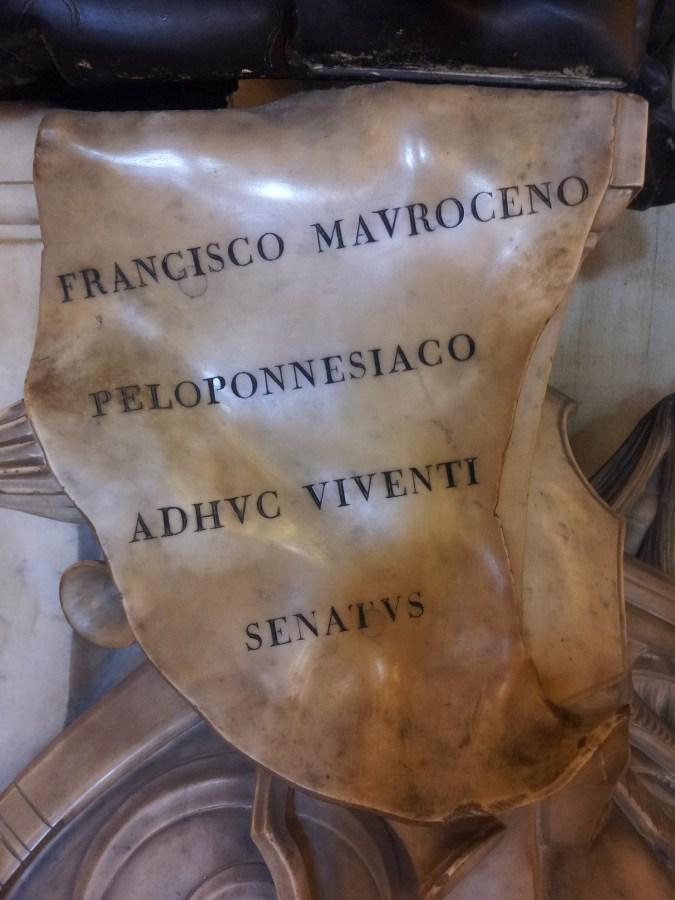 Francesco Morosini Peloponnesiaco adhuc viventi Senatus … NONITALICUS
